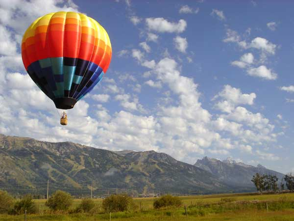 Hot air balloon in Napa Valley, California